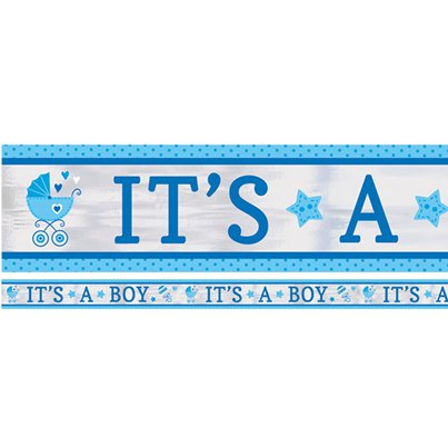 "Baby Shower ""It's a Boy"" Folienbanner 7,6m"