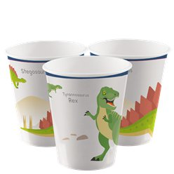 Coole Dinosaurier - Pappbecher 250ml