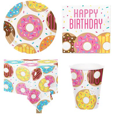 Doughnut - Party Deko Set - Für 8 Personen