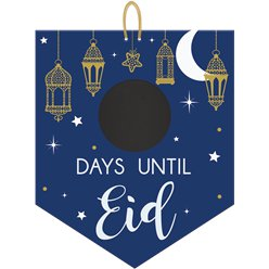 "Eid Mubarak - ""X Days Until Eid"" Countdown-Kreidetafel-Schild"