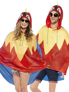 Unisex Papagei Partyponcho