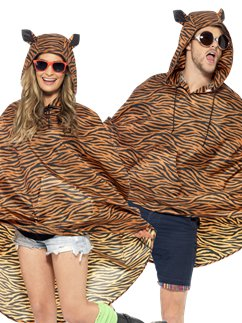 Unisex Tiger Partyponcho