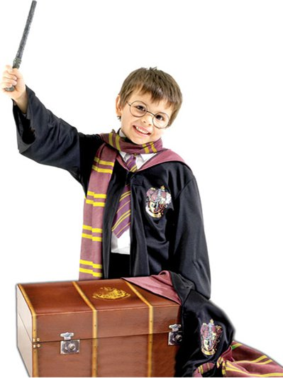 Harry Potter mit Truhe - Kostüm-Set