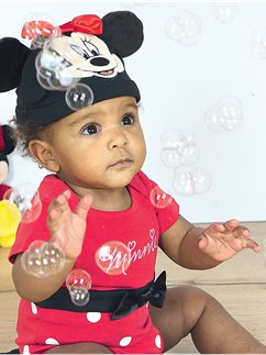 Minnie Maus Jerseystoff-Set