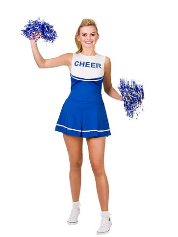Blauer High School Cheerleader - Erwachsenenkostüm front