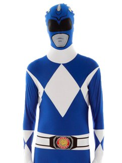 Blauer Power Ranger Morphsuit