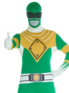 Grüner Power Ranger Morphsuit