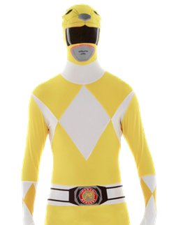 Gelber Power Ranger Morphsuit