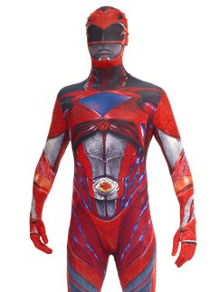 Power Rangers Movie Roter Morphsuit