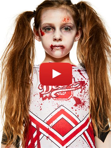 Zombie-Cheerleader - Kinderkostüm video