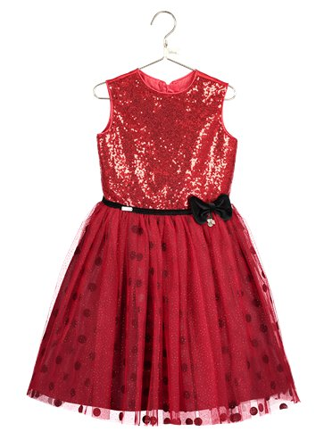 Minnie Maus Partykleid mit Pailletten - Kinderkostüm | Party City