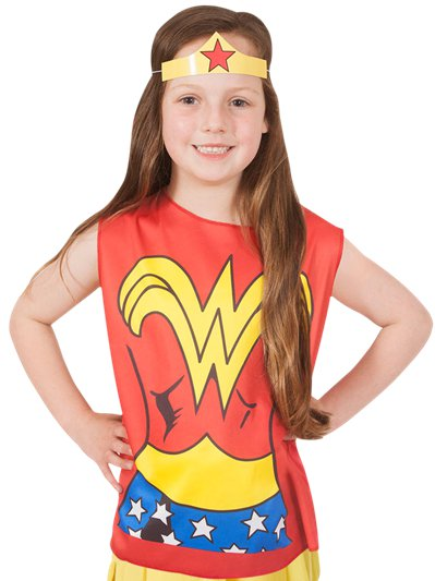 Wonder Woman Kostüm-Set - Kinderkostüm