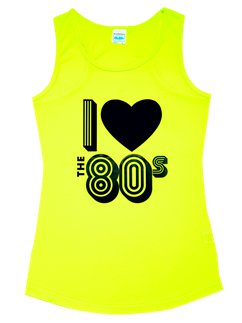 I Love the 80s Neon gelbes Tanktop