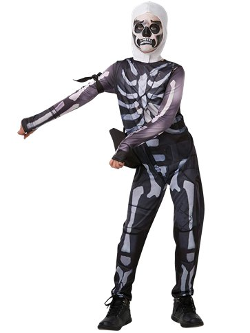Fortnite Skull Trooper - Kinder- & Teenagerkostüm front
