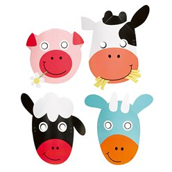 Farmtiere - Party Masken