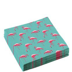Flamingo Paradies - Papierservietten 33cm