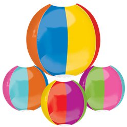 Strandball Orbz Beach Ball Folienballon 41cm-46cm
