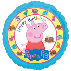 "Peppa Wutz - ""Happy Birthday"" bunter Folienballon 46cm"