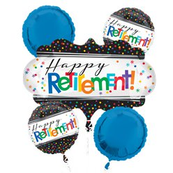 """Happy Retirement"" Pensionierung Folienballon-Set"