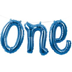 "Alter 1 ""one"" Blaue Folienballon-Girlande 30cm"