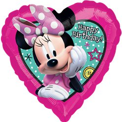 "Minnie Maus Kleiner Helfer ""Happy Birthday"" Folienballon 46cm"