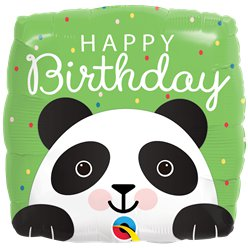 "Panda ""Happy Birthday"" Geburtstag Folienballon 46cm"