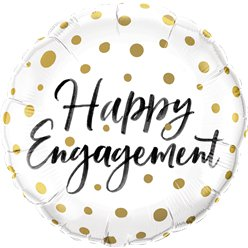 """Happy Engagement"" Verlobung Folienballon 46cm"