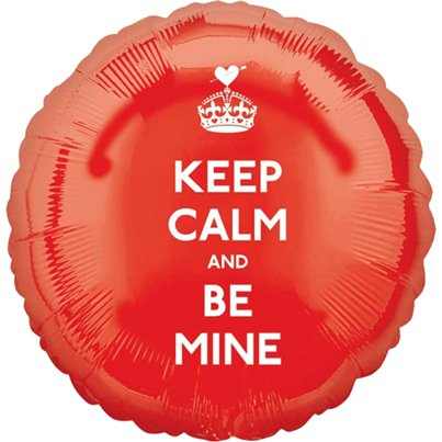 Keep Calm and Be Mine - Folienballon 46cm