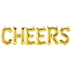 """CHEERS"" Goldene Folienballons Set 41cm"