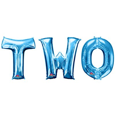 """TWO"" Blaue Folienballons 86cm"