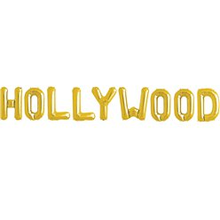 """HOLLYWOOD"" Goldene Folienballons 41cm"