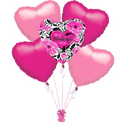 """Wonderful Mum"" Muttertag Ballon-Set - Sparen Sie 20%"