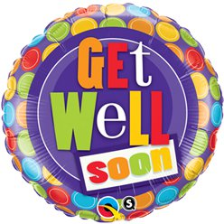 Get Well Soon - Muster Folienballoon - 46cm