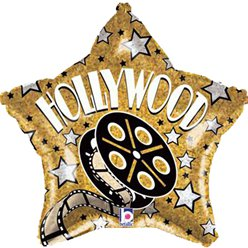 Hollywood Stern Folienballon 48cm