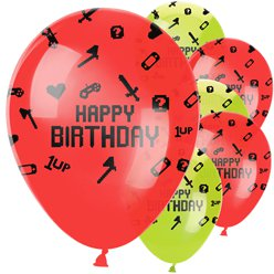 "Game On - ""Happy Birthday"" Luftballons aus Latex 30cm"