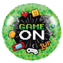 Game On - Metallischer Folienballon 46cm