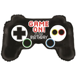 Gamecontroller Geburtstag Folienballon 91cm
