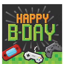 "Game On - ""Happy Birthday"" Geburtstag Servietten 2-lagig 33cm"