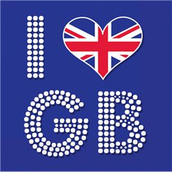 I Love GB Servietten 3-lagig