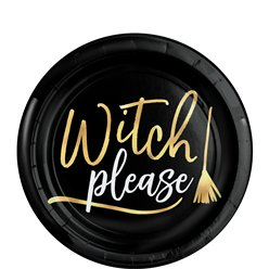"""Witch Please"" Plastikteller 19cm"