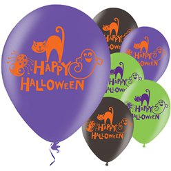 Frohes Halloween Luftballons aus Latex 28cm
