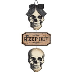 "Knochenfriedhof - ""Keep Out"" Türschild 48cm x 21cm"
