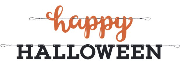 """Happy Halloween"" Girlande"