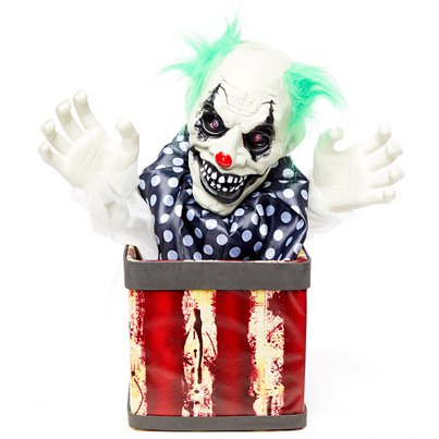 Animierter Clown in einer Box