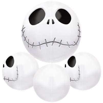 Nightmare before Christmas - Jack Skellington Orbz Folienballon 41cm