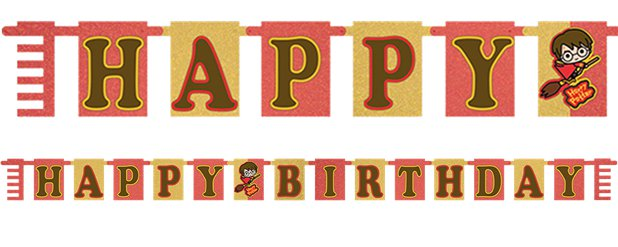 "Harry Potter Comic - ""Happy Birthday""-Girlande 2,1m"