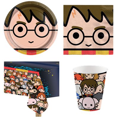 Harry Potter Comic - Party Deko Set - Für 8 Personen
