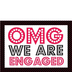 "Verlobung ""OMG We Are Engaged"" Einladungskarten - Mittelgroß"