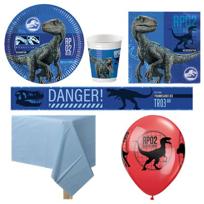 Jurassic World - Premium Party-Set - Für 8 Personen