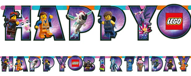"LEGO Movie 2 - ""Happy Birthday""-Girlande 1,63m"